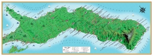 Map of Mount Athos